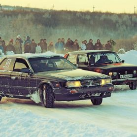 DRIFT CAR XENUM успешно дебютировал в Winter Drift Battle в Магадане!